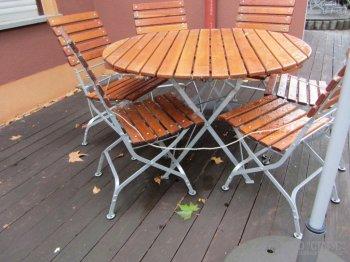Стол круглый раскладной для террас, кафе, ресторанов купить