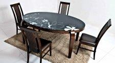 Стеклянный стол Ohio и стулья Davos
