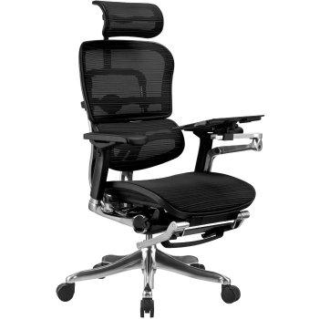 Сетчатое компьютерное кресло ERGOHUMAN PLUS с раскладной подставкой для ног. купить