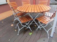 Стол круглый раскладной для террас, кафе, ресторанов