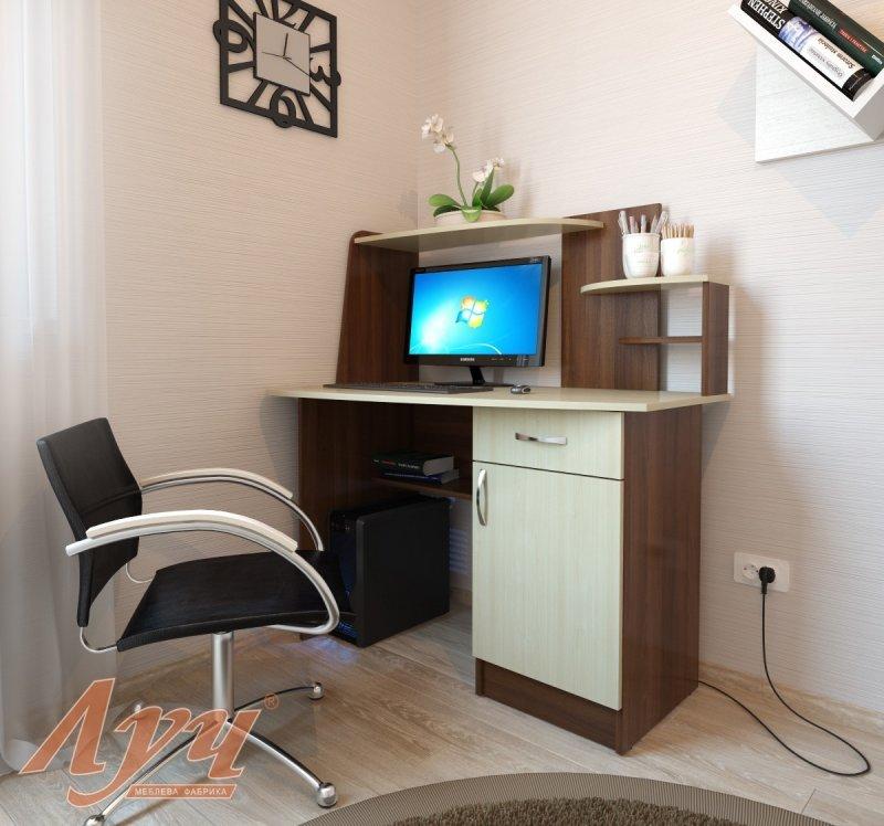 Компьютерный стол ск-152 (комбикомп) - кремез.