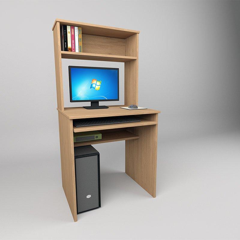Компьютерный стол с дополнениями из шкафов.