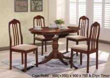 Стол Fedel и стулья Timur